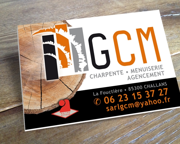 Supports De Communication Pour GCM Charpente Menuiserie Agencement